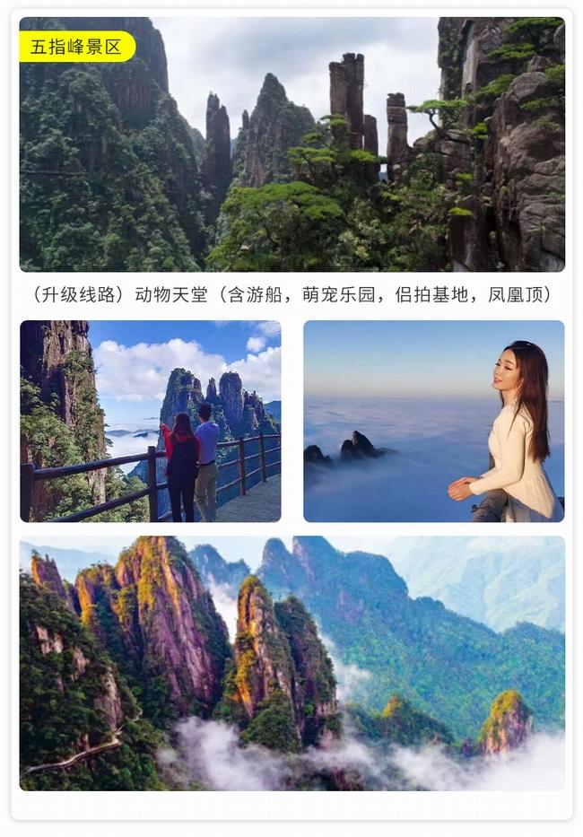 莽山五指峰+雾漫小东江+丹霞高椅岭纯玩跟团3日游_旅游线路